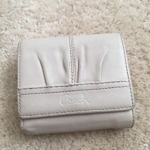 Ivory Coach Leather Wallet